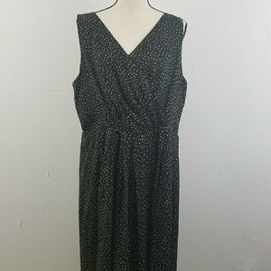 Talbots pure silk polka dots dress plus size